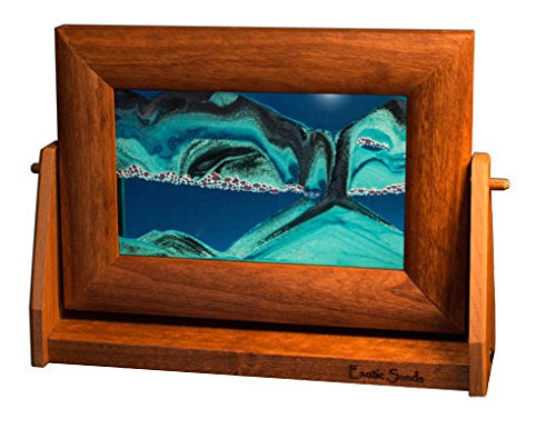 Original Moving Sandscapes By Exotic Sands. Made In USA, Shop Now - Exotic Sands - Small Alder Frame (Ocean Blue) Voted America's Best Gift Idea - Shop Alder