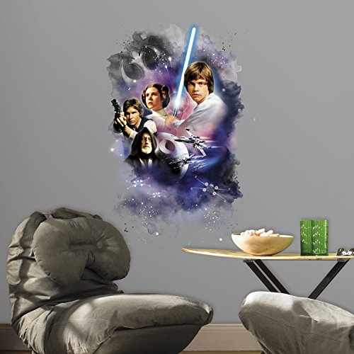RoomMates RMK3026TB Star Wars Classic Mega Peel and Stick Giant Wall Decals, 22.7