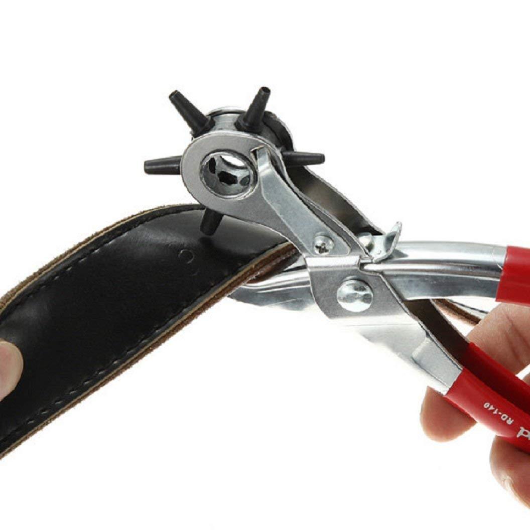 Alicates Sacabocados para hacer Agujeros Cintur/ón Zapatillas Tenazas