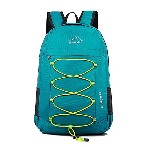 - CLEVER BEES Backpack Foldable Ultra Lightweight Outdoor Water Resistant Hiking Backpack for Travel, Champing, Hiking, School Sports, Teal