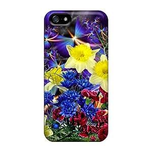 [ADNmVja4741pGbAZ]premium Phone Case For Iphone 5/5s/ Bouquet Of Flowers Violet Tpu Case Cover