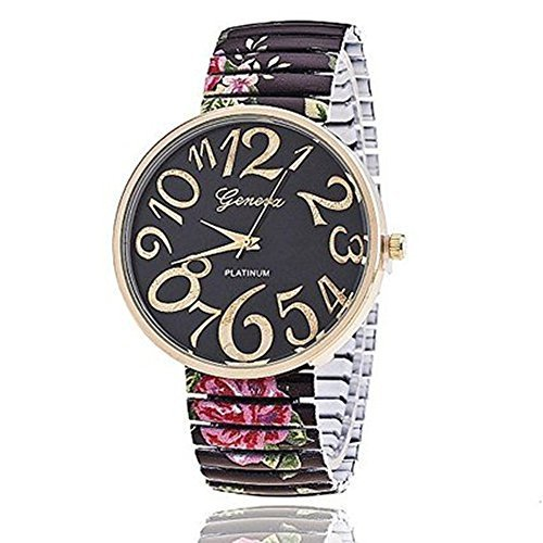 New Arrival ANTIQUE ROSES STRETCHABLE WATCH stainless steel Flower Geneva Watch Ladies Watches Women