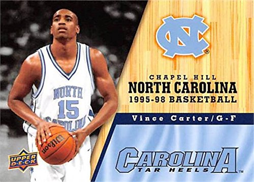 Carter Vince Basketball (Vince Carter Basketball Card (North Carolina Tar Heels, 1995-1998) 2011 Upper Deck #73)