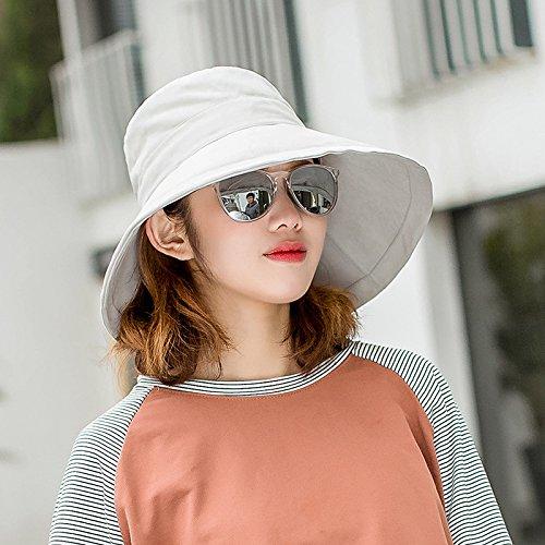 Viaje Lady Sombrilla Gran Ultravioleta Verano Cap Gris Pac Gaoqiangfeng Hat Anti Inglés Sun f De Piscina rosa vFwP0