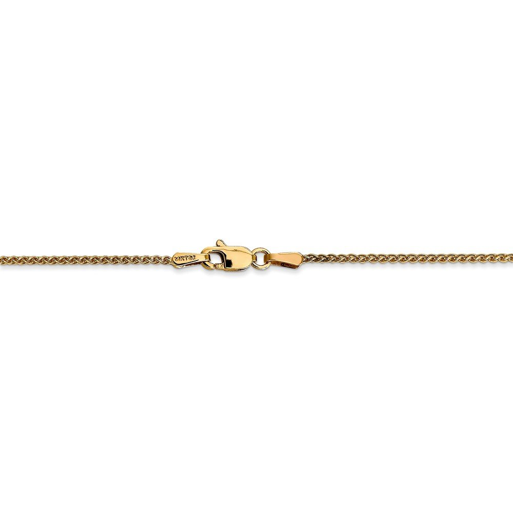 14kt Yellow Gold 1.25mm Spiga Chain; 16 inch