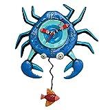 Allen Designs Blue Crab Pendulum Clock