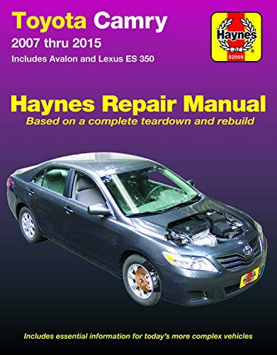 2007 Lexus Es Series - Toyota Camry & Avalon & Lexus ES 350 (07-15) Haynes Repair Manual (Does not include information specific to hybrid models. Includes thorough vehicle ... exclusion noted. ) (Haynes Automotive)