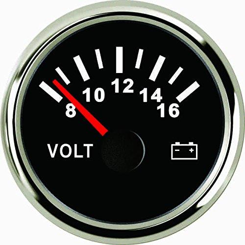 ELING Voltmeter Volt Gauge 8-16V 52mm(2') With Backlight