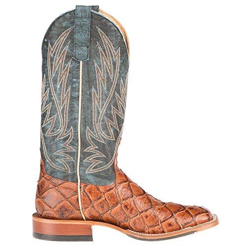 Anderson Bean Mens Cognac Siletsofish Seas Il Giorno Top Stivali Da Cowboy 12 D Marrone