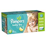 Pampers Baby Dry Diapers Size 6, 96 Count