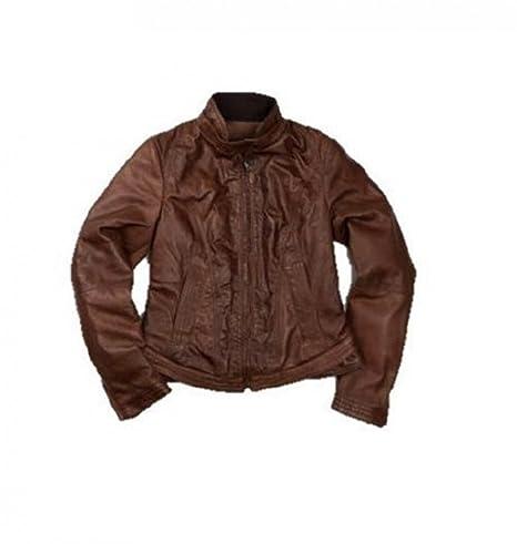 Original Vespa 946 Mujer Chaqueta de piel marrón marrón ...
