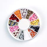 12 Colors Various Animal Designs Nail Art Polymer Decal Slices in Wheel by Hrhyme