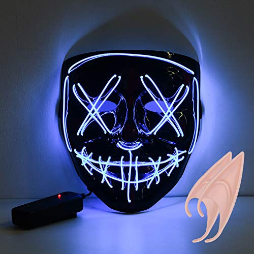🥇 URAQT Máscara LED de Halloween