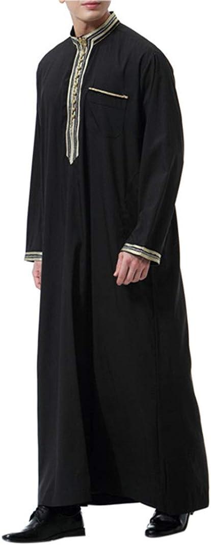 Ropa Árabe Hombre Abaya Musulmana - Manga Larga Maxi Vestidos Abrigos Largos Islámica Kaftan