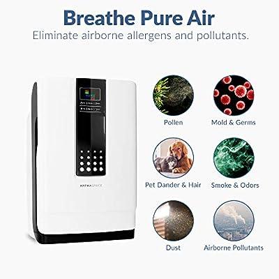 Purificador de aire Hathaspace Smart True HEPA, 6 en 1, limpiador ...