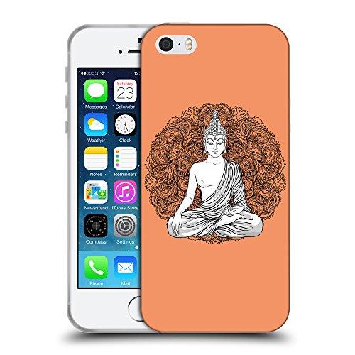 GoGoMobile Coque de Protection TPU Silicone Case pour // Q09990607 Bouddha assis 10 Mandarine // Apple iPhone 5 5S 5G SE