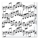 Musical Note Luncheon Napkins (2-Ply) (16/Pkg) (Value 3-Pack)