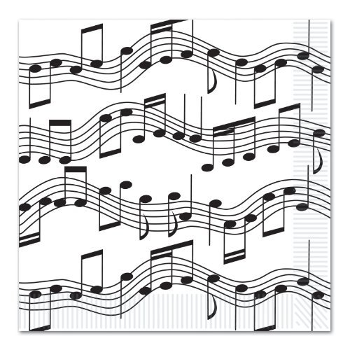 Musical Note Luncheon Napkins (2-Ply) (16/Pkg) (Value 3-Pack) by Beistle