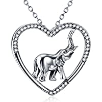 925 Sterling Silver Good Luck Charm CZ Pendant Animal Necklace, Rolo Chain ¡
