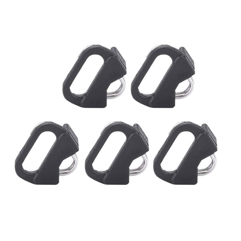 Acouto ブラックラグリング 交換用合金プラスチック 三角形スプリットリングフック カメラストラップ 合金スプリットリング 小眼レンズカメラ用 5個セット B07KWXM8L5