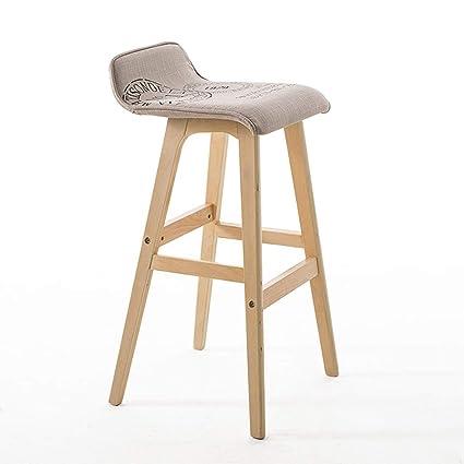 Marvelous Amazon Com Solid Wood Bar Chair Creative Bar Chair Ibusinesslaw Wood Chair Design Ideas Ibusinesslaworg