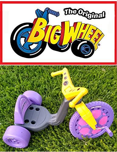 The Original Big Wheel Trike 16 Gray & Purple with Pink Decals