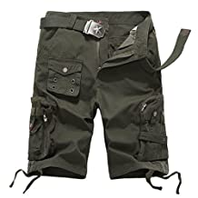 Topway Womens Camo Casual Straight Leg Cargo Shorts Combat Tactical Trousers