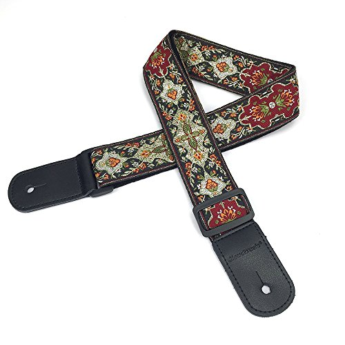 CLOUDMUSIC Ukulele Strap Vintage Pattern Ukulele Strap For Soprano Concert Tenor Baritone (Vintage) by CLOUDMUSIC