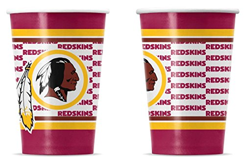 NFL Washington Redskins Disposable Paper Cups (20-Pack)