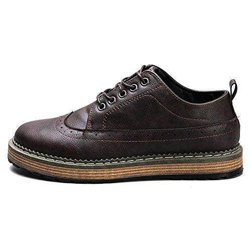 Scarpe Stringate 41 EU Xujw 2018 casual Nero uomo Basse shoes casual Marrone da Scarpe Dimensione oxford stringate basse Color waaxfXT
