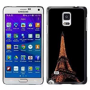 Be Good Phone Accessory // Dura Cáscara cubierta Protectora Caso Carcasa Funda de Protección para Samsung Galaxy Note 4 SM-N910 // Eiffel Tower in Paris