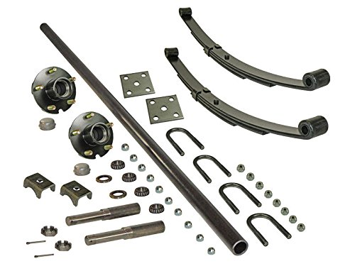 2,000 lb. Adjustable Axle Kit with 5-Bolt Hubs - (2000 Lb Trailer Axle)