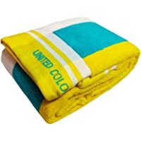 United Colors of Benneton Cotton Soft Full Size Bath Towel 450 GSM for Men and Women (Multicolour, 137 X 40 cm)