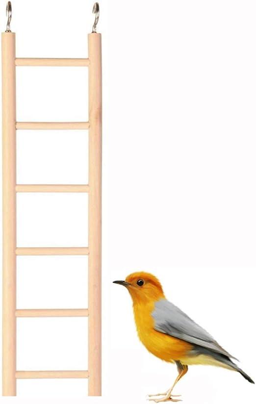 QMYS - Escalera de Madera Natural para Escalada, Juguete para pájaros, Loro Rata, Jaula de Chinchilla, Perca, escaleras, hámsteres, Suministros de escaleras, escaleras, rascador Mecedora: Amazon.es: Productos para mascotas