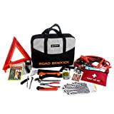Sidekick Solution Premium Emergency Roadside Kit 64 Piece Multipurpose...
