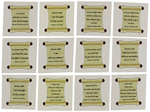Sticker-Bible Verse Scrolls (Pk/12)