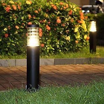 Warm White Glighone LED Post Lights Outdoor Garden Waterproof Square IP65 Bollard Lamp 18W Black Landscape Post Cap Lamp for Wooden Posts Deck Patio
