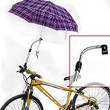 傘スタンド 傘の向きを360°調節 / 自転車 ベビーカー 車椅子に  [車輪反射シール付]
