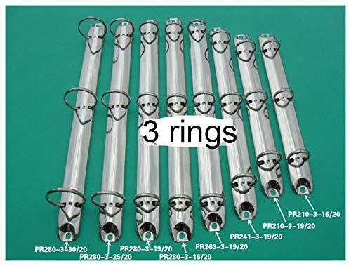 New Edify Ltd 3-Ring Binder A4 A5 3 Holes Binder Rings Metal Binder Clip PO A5 25mm