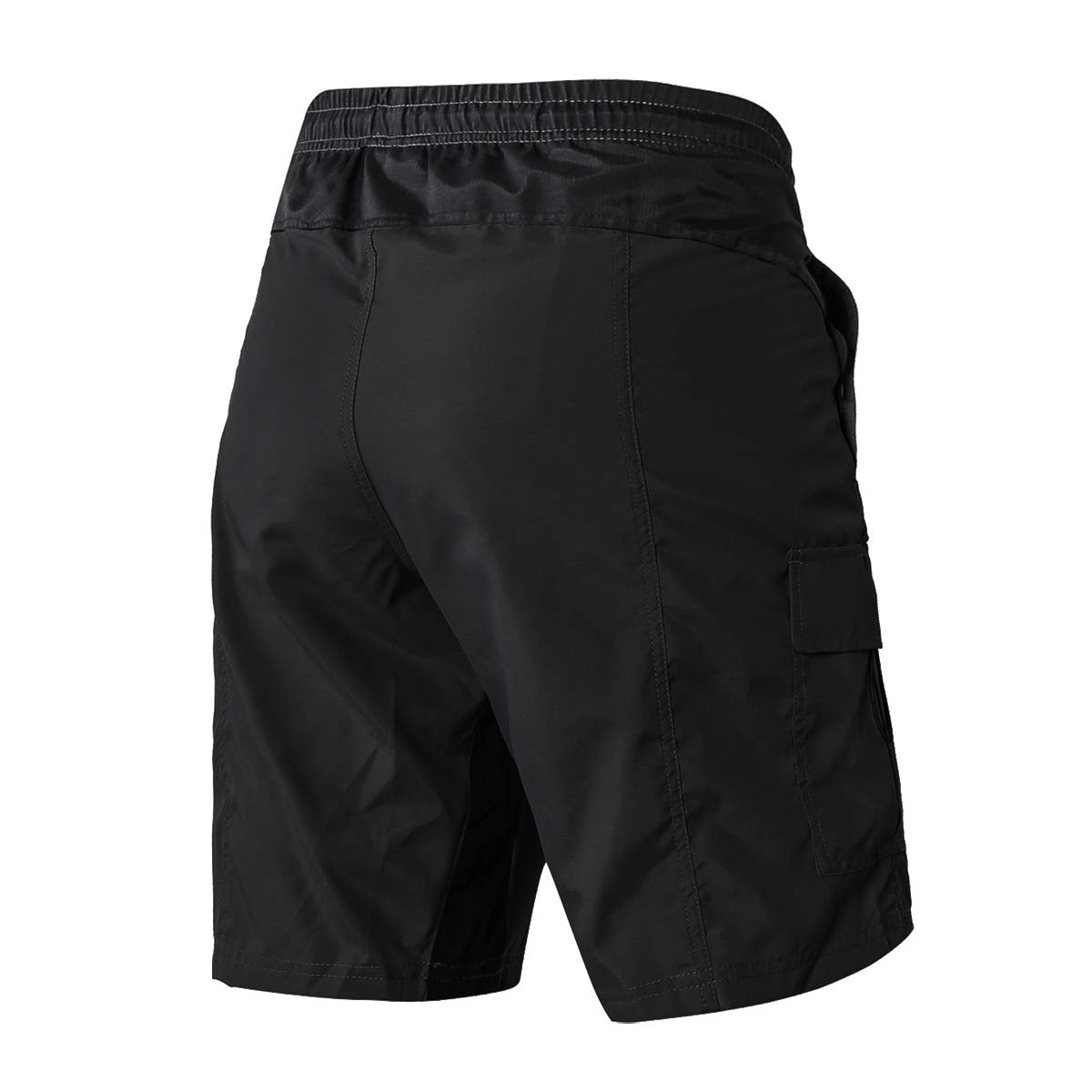 EZRUN Men's 3D Padded Mountain Bike Shorts Lightweight MTB Cycling Shorts (Black,XXL) by EZRUN (Image #2)