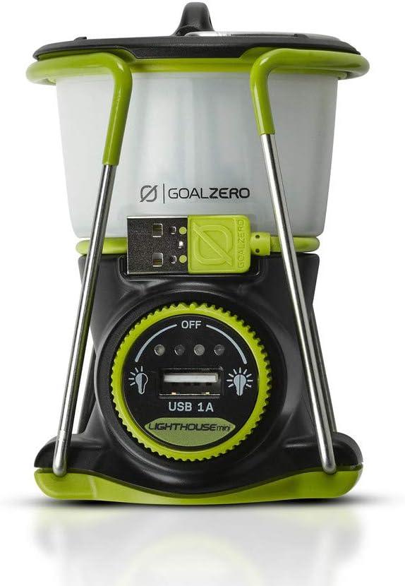 Amazon.com: Goal Zero Lighthouse Mini linterna recargable con concentrador de alimentación USB, 250 lúmenes, regulable: Home Improvement