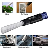 Universal Vac Attachment, Dust Brush Cleaner Dirt Remover As Seen on TV, Cleaning Tools for Vents/Keyboards/Drawers/Car/Tools/Crafts/Jewelry/Plants/Rattan