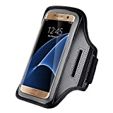 LifeFly Sweat Proof Running & Exercise Armband Case with Key, Credit Card / Money Holder & Reflective Band (Samsung Galaxy S6 Edge)
