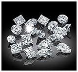 Venetia Top Grade Realistic Supreme Princess Cut Loose NSCD Simulated Diamond 1 2 Carats Different Sizes Super Sparkling White Fire
