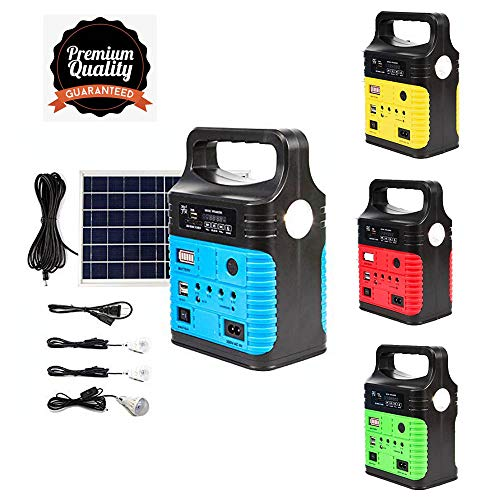 UPEOR Portable Solar Generator Lighting System with Solar Panel, Portable Solar Power Generator Kit,...