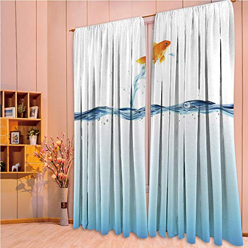 ZHICASSIESOPHIER Bedroom/Living Room/Kids/Youth Room Curtain Panels, 2 Panel,Out