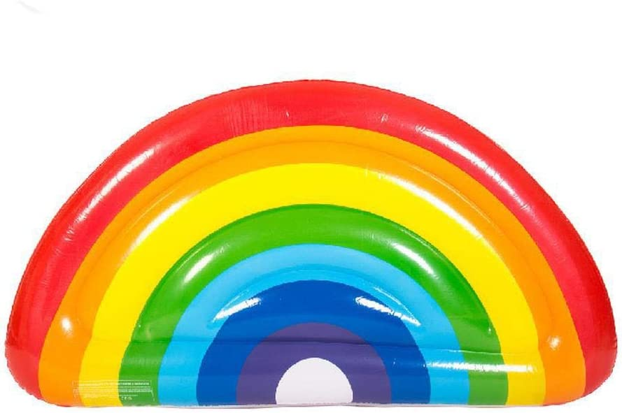 KDKDA Semi Circular Rainbow Pool Float Flotadores de Piscina ...