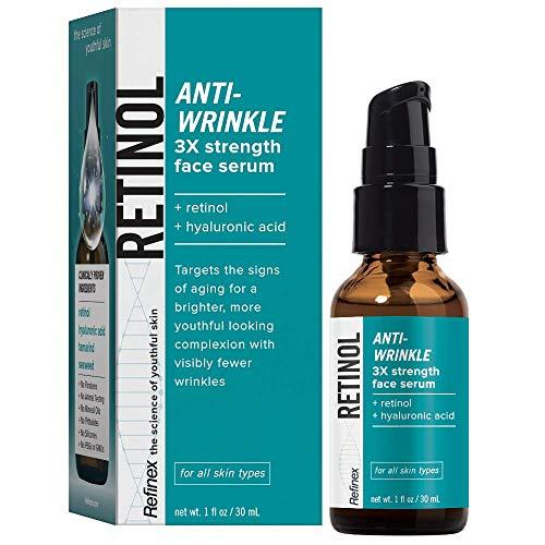 Refinex RETINOL Anti-Wrinkle 3X Strength Face Serum (Retinol Serum 3x)
