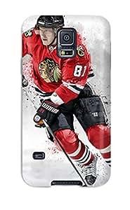 Shock-dirt Proof Hockey Nhl Chicago Blackhawks Marian Hossa H Case Cover For Galaxy S5