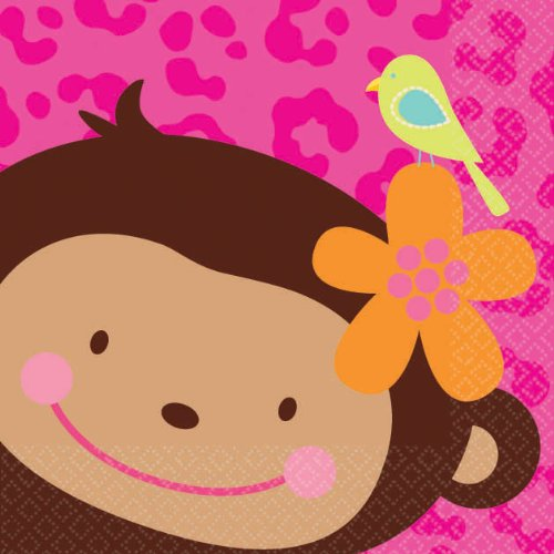 Amscan Beverage Napkins Monkey Love Party